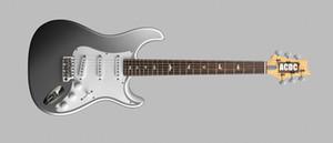 Özel Paul Smith, John Mayer Sliver Tungsten Elektro Gitar ST Stil Şekli Boyun, Siyah Boyun Tabak, Beyaz İnci Kuş Kakma, Tremolo Köprü