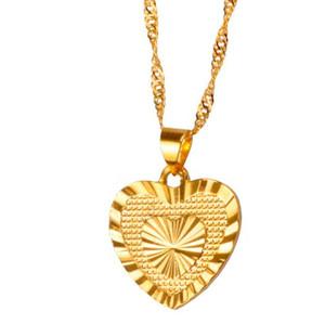 Corazón colgante de la joyería y la joyería de los collares románticos de color oro para mujer regalo de boda regalos niñas esposa de la novia