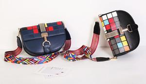 2018 bolsa De Mosaico O cubo mágico Color grid Pequeno Mini Moda ocasional lady bag Mulher saco de Alta qualidade PU Bolsas de Ombro