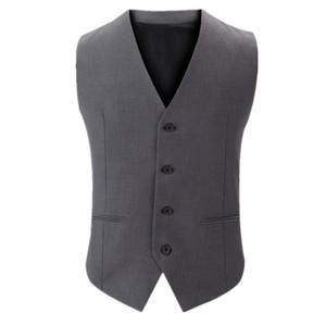 2017 Men's Spring New Dress Suit Vest Fashion Formal Business Men Vests Slim Fit Mens Casual Outwear Gilet