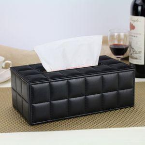 홈 오피스에 대 한 3 색 튼튼한 가죽 PU 표준 티슈 상자 홀더 자동차 직사각형 세련 된 우아한 가정용 티슈 케이스