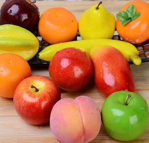 Künstliche Fruchtschaum Gefälschte Frucht Apple Leamon Pfirsich Orange DIY Kunststoff Künstliche Frucht Für Wohnkultur Zubehör Fotografie Requisiten