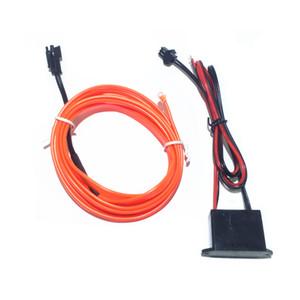 DIY 장식 12V 자동차 자동차 인테리어 LED 네온 라이트 EL 와이어 로프 튜브 라인 파티 잡초 데칼 10 색 5M