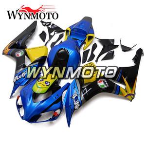 Neues Haifisch-Blau-fluoreszierendes gelbes Motorrad-voller Verkleidungs-Installationssatz für Honda CBR1000RR 2006 2007 CBR 1000RR 06 07 ABS Plastikeinspritzung-Platten