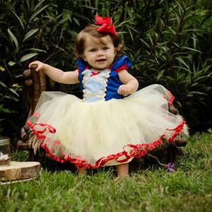 التجزئة طفلة ثوب التعميد التعميد ثوب الثلج الأبيض الأميرة اللباس الأطفال تأثيري ازياء ملابس أطفال dancewear الخريف الملابس
