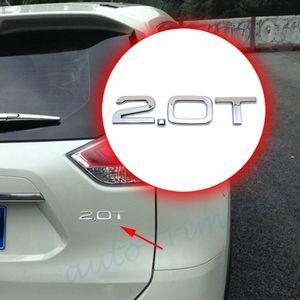 Двери автомобиля кузов украшает эмблема двигателя 2.0 Т 2.0 Т Турбо значок символы 3D наклейка украшения