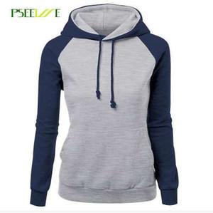 PSEEWE Moda hoodies mulheres Camisolas Senhoras Moletom Com Capuz Manga Longa Sudaderas Mujer hoodies e camisolas
