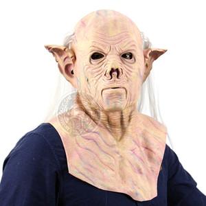 Hanzi_masks Alien Korkunç Maske Cadılar Bayramı Festivali Parti Cosplay Kostüm Malzemeleri Tam Yüz Nefes Alien Korku Lateks Maske Parti Sup