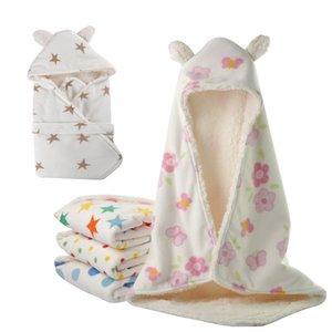 Hiver Bébé Swaddle Wrap Polar Fleece Baby Swaddling Couverture Infant Serviette Doux Nouveau-Né Bébé Swaddle Couvertures
