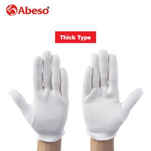 ABESO 12 çift / grup için Beyaz% 100% Pamuk Töreni eldiven erkek kadın Hizmet / Garsonlar / sürücüleri / Takı Eldiven A6001 D18110705