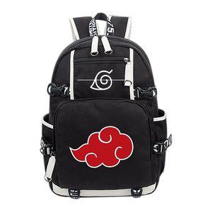 Anime Naruto Akatsuki Red Cloud Rucksack Schule Schultertasche Rucksack Cosplay Sammlung
