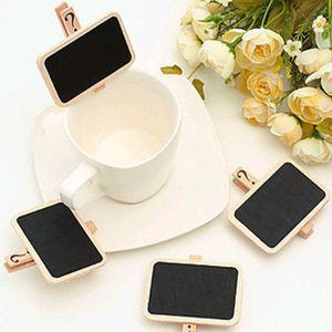 Mini tableau de message babillard pince en bois tableau noir étiquette de jardin étiquette de marque de mariage étiquette de mariage 6.8x4.8cm clips en bois