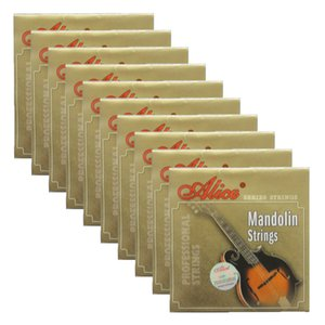 10Sets Alice Mandolin Strings Silver-Plated Copper Alloy Wound EADG AM03