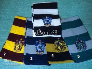Novo 180 cm de comprimento presente das crianças harry potter escola cachecol lenço cachecol cachecol com emblemas 4 modelo
