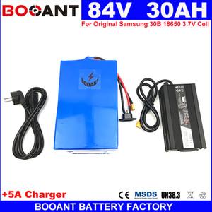 Booant 84 v 30ah für bafang 2000 watt motor e-bike lithium-akku 18650 zelle 84 v elektrische fahrradbatterie + 5a ladegerät 30a bms