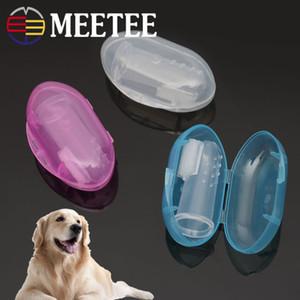 Pet Bakım Kutulu Pet Silikon Parmak Diş Fırçası Yavru Köpek Kiti Fırçalama Pet Temizlik Ürünleri DC-449 Malzemeleri