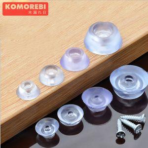 KOMOREBI 100 Pcs Furniture Round Shaped Rubber Non Slip Non Skid Feet Pad for Table Desk Chair and Sofa