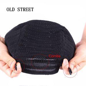 1 unids Cornrow Peluca Cap Para Hacer Pelucas Ajustable Color Negro Crochet Trenzado Tejer Casquillo de Encaje Elasti Herramienta Hair Hairling