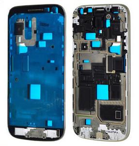 Logement d'origine Nouveau Front Cadre Bezel pour Samsung Galaxy S4 mini-GT-I9195 i9190 Cadre de plaque Moyen Faceplate Pièces de rechange Livraison gratuite