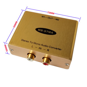 Stereo to Mono Audio converter with isolation output Stereo Mono adapter Hi-Fi Audio Mixer with 2-CH Mono Isolation output