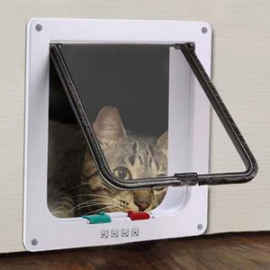 Komik Plastik Kilitlenebilir Kedi Köpek Emniyet Kapı Güvenlik Flap Kapısı Pet Malzemeleri Ev Kapısı Hayvan Kapı