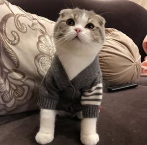 Gatti Gilet Moda Gilet Per cani e gatti Cardigan Gilet Outwear caldi Teddy Pug Schnauzer Maglione Grade di alta qualità Abbigliamento