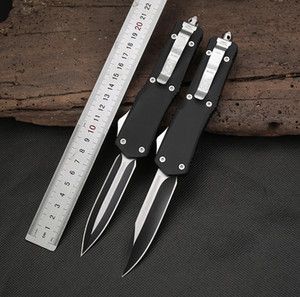 Micro-tech Al aire libre cuchillo táctico portátil acción caza cuchillos interruptor son 440C cuchillos de camping de alta calidad de aleación de aluminio