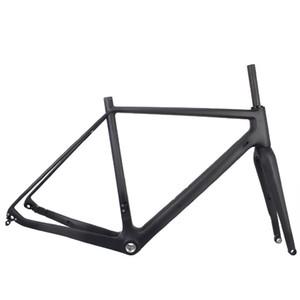Cadre de vélo de gravier en carbone complet Superlight Cadre de cyclocross de carbone Chine Cadre de vélo de carbone avec support inférieur BSA / BB30
