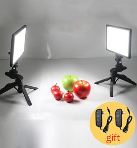 Table Studio Studio Set 2x Viltrox L116T Light-dimmable LED Video Light + 2x Mini Tripod + 2x 2M AC Adapter for DSLR Photo
