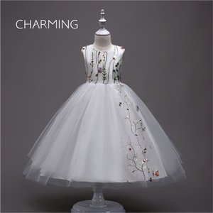 abiti da festa bianchi Ball Gown Flower Girl Dress abito ricamato abiti firmati tutu abiti da sera dresse s