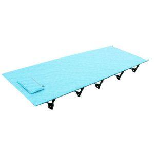 Russian Warehouse Hi suyi Ultralight Folding Single Camping Bed Aluminium Alloy Tent Cot Outdoor Equipment