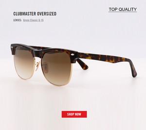 Kulüp Güneş gözlüğü Erkekler Kadınlar Yarı çerçevesiz Usta Sunglass UV400 2018 yeni Klasik Marka tasarımcı degrade lensi 4175 Gözlük sürüş boy art
