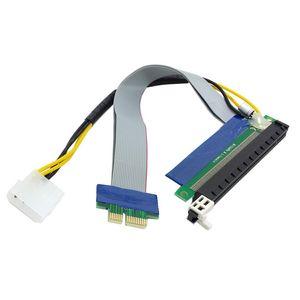 PCI-E 1X Slot Riser Express 1x إلى 16x Extender Ext Ribbon Flex Cable PCI-Express Lead 19CM