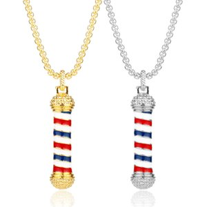 Collar Colgantes de oro 2018 nuevo diseño CALIENTE Collares de Hip Hop Lámpara de rotación marca herramienta de Barber Cadena Popular Moda joyería de las mujeres al por mayor