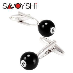 SAVOYSHI Brand Novelty Billiards Cufflinks for Mens Shirt Cuff Accessories Fashion Black Ball Cufflinks Party Gift Jewelry