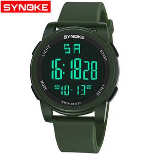 SYNOKE commerce extérieur chaud mode étanche sports hommes montre extérieure multi-fonction alarme lumineuse étudiant montre électronique