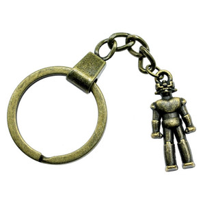 6 Pieces Key Chain Women Key Rings Couple Keychain For Keys Robot 31x13mm