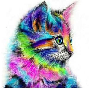Бескаркасных абстрактные кошки животных DIY живопись by Numbers акриловая краска на холсте рисунок краска по номерам уникальный подарок на стене
