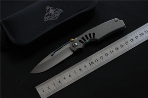 Free shipping,kevin johnTilock outdoor Flipper Folding knife Titanium handle M390 blade Tactical camping survival Knives EDC tools
