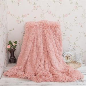 Il nuovo disegno 130 * 160cm WINLIFE molle eccellente lungo Shaggy Fuzzy pelliccia finta pelliccia calda ed elegante, accogliente con soffici Sherpa coperta del tiro