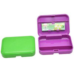 Bocchino in plastica (110mm * 75mm) portasigarette bagagli con il supporto 78mm Papaer plastica Tobacco Tin tasca portatile Dimensioni