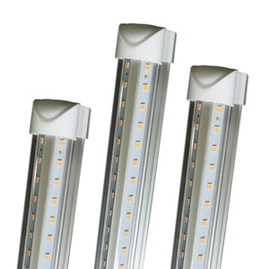 Luzes de LED 8 PÉ 8ft tubo conduzido luz em forma de V T8 Integração alto brilho dois pés 3 pés 4 pés 5 pés 6 pés 52W 56W 8 pés luz 4000-4500K