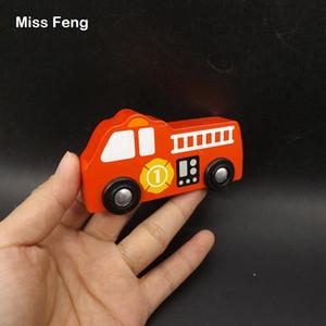 Mini camion de lutte contre l'incendie modèle de voiture jouets éducatifs pour enfants enseignement jeu apprentissage précoce jouet éducatif en bois jeu cadeau