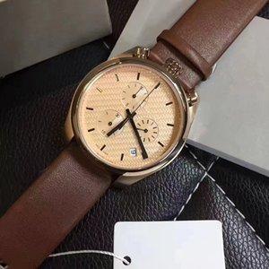 Relógio de homem novo e elegante! Aço inoxidável três olho seis agulha série relógio à prova d 'água de quartzo: alta qualidade, varejo e atacado + navio livre