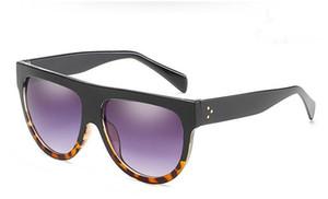 Европейская мода тенденция ретро унисекс солнцезащитные очки большая рамка солнцезащитные очки УФ-защита очки Очки Очки для путешествий вождения очки