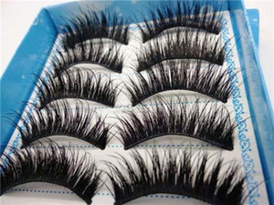 High Quality 5 Pairs set of Natural Long Black EyeLashes Makeup Handmade Thick Fake False Eye Lashes Extension Tools 2018 New