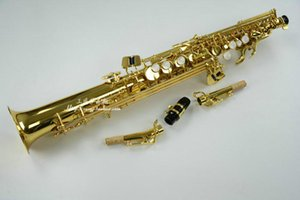 JUPITER JPS-747 Soprano recto de tubería de latón B Flat saxofón alta calidad de oro laca con boquilla Sax Case Accesorios