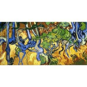 Pintados a mano Paisajes Roots y Tree Trunks Vincent Van Gogh Pinturas al óleo para la decoración del hogar