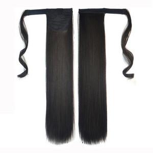 Evermagic Human Hair PanyTail Wrap Clip en extensiones de cabello humano recto 14-26 pulgadas Brasileño Remy Hair 100 g por paquete