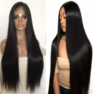 PU piena del merletto intorno parrucca 9A serica brasiliana capelli umani del Virgin piena del merletto con la parrucca sottile della pelle per Black Woman spedizione gratuita